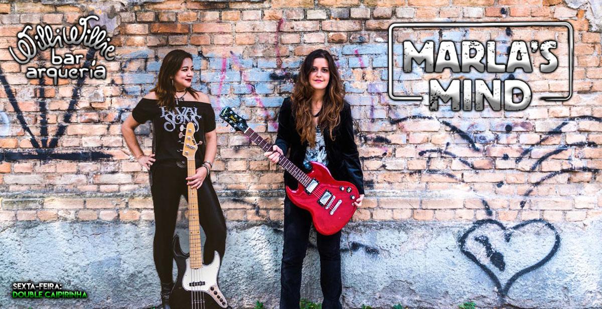 Willi Willie Bar e Arqueria recebe a banda Marlas's Mind com muito rock'n'roll