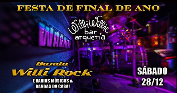 Festa de fim de ano com a Banda Willi Rock