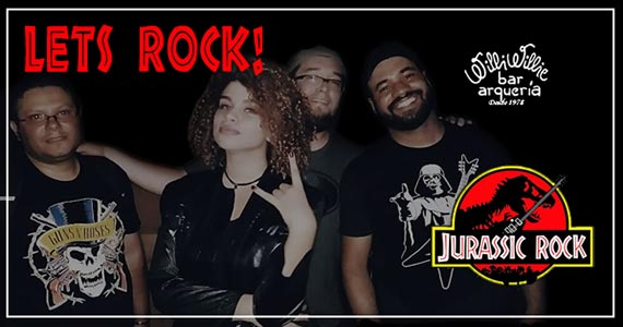 Banda Jurassic anima a noite com Classic Rock no Willi Willie Bar e Arqueria