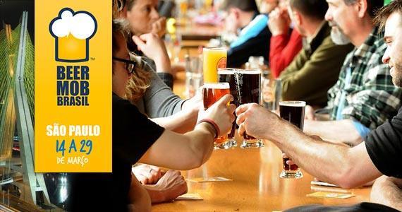 Beer Mob São Paulo oferece degustações e cardápios harmonizados em 28 bares, brewpubs, lojas e restaurantes Eventos BaresSP 570x300 imagem