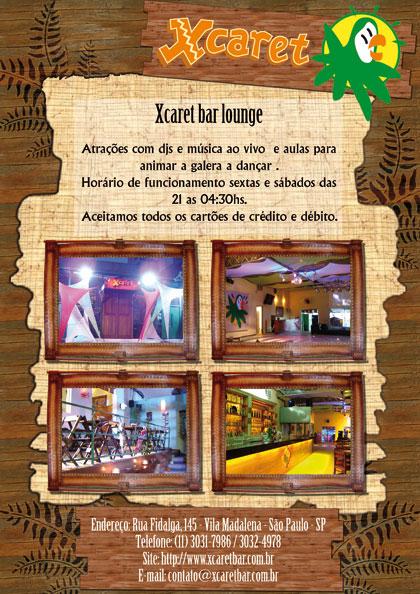 Anúncio Xcaret Bar