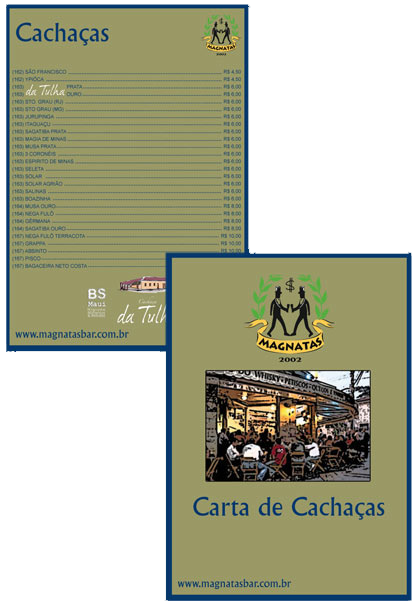 Carta de Cachaça Magnatas Bar Br3 Site sites cases image
