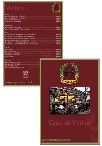 Carta de Vinhos Magnatas Bar Br3 Site sites cases image