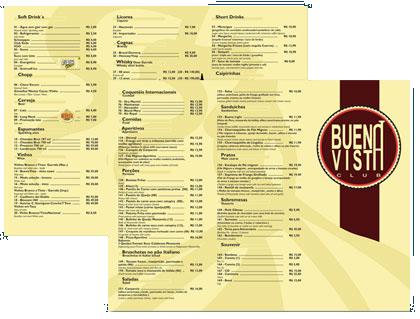 Cardápio Buena Vista Club
