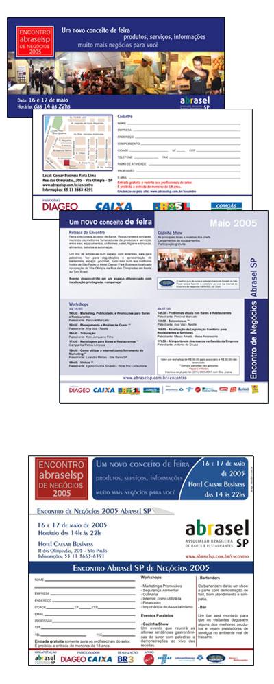 Convite Abrasel Encontro 2005