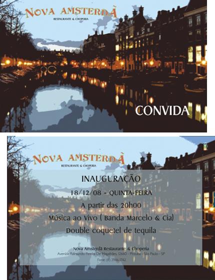 Convite de Inauguração - Nova Amsterdã