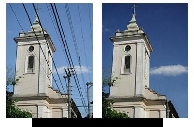 Tratamento de imagem - Igreja