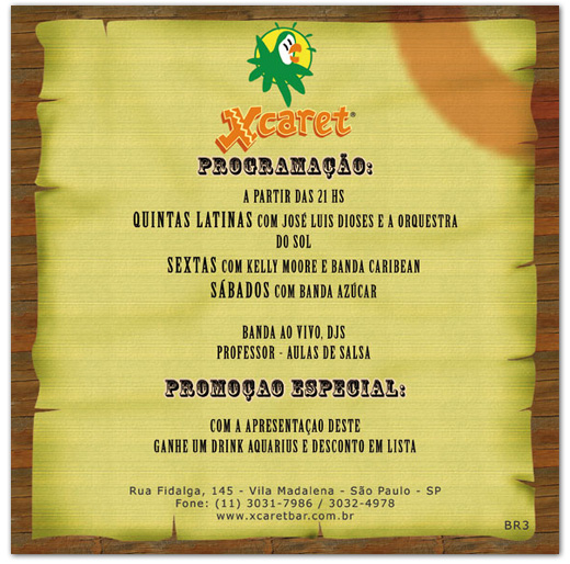 Flyer Eventos Xcaret Bar Br3 Site sites cases image
