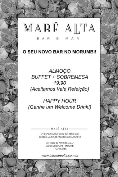 Flyer impresso Maré Alta Morumbi