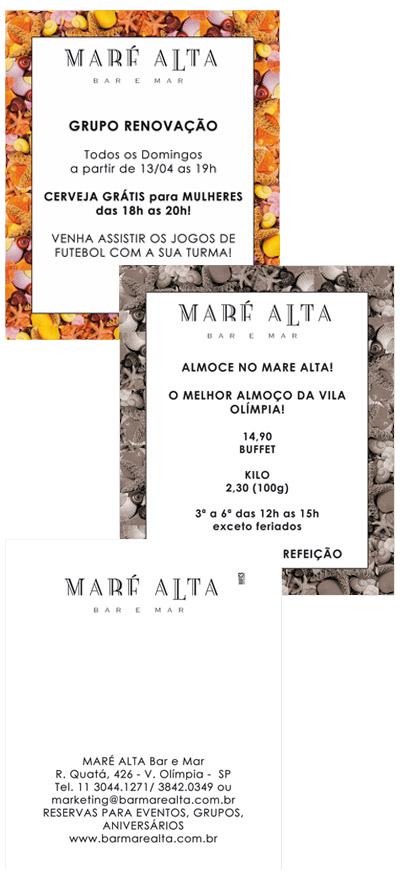Flyer Impresso Maré Alta - Borda Conchas Br3 Site sites cases image