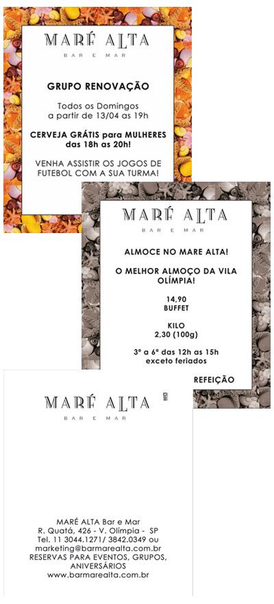 Flyer Impresso Maré Alta - Borda Conchas