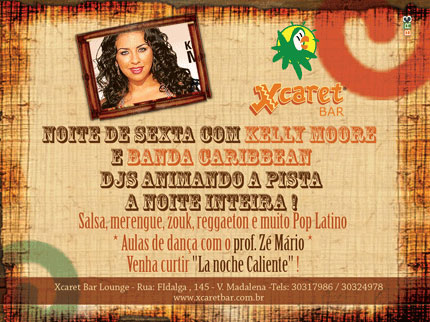 Flyer Quintas Latinas Xcaret Bar