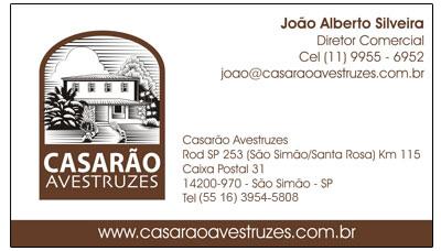 Cartão de Visitas - Casarão Avestruzes