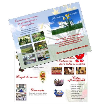 Folheto de Divulgação da Floricultura Emoções Br3 Site sites cases image