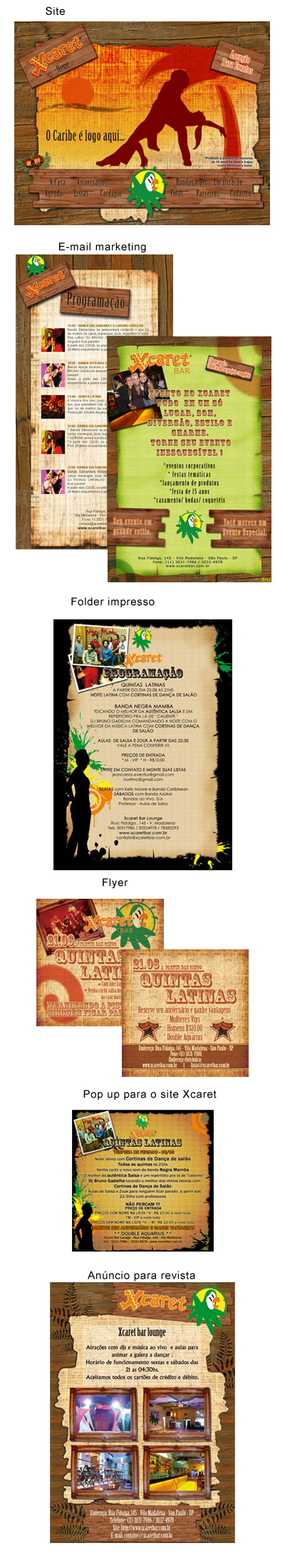 Identidade Visual Xcaret Bar Br3 Site sites cases image