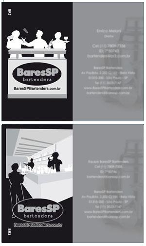 Cartões de visita do Bartenders
