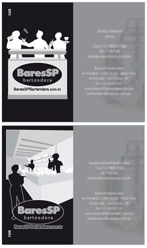 Cartões de visita do Bartenders Br3 Site sites cases image