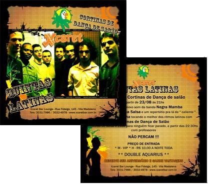 Flyer Novas Quintas Latinas Xcaret