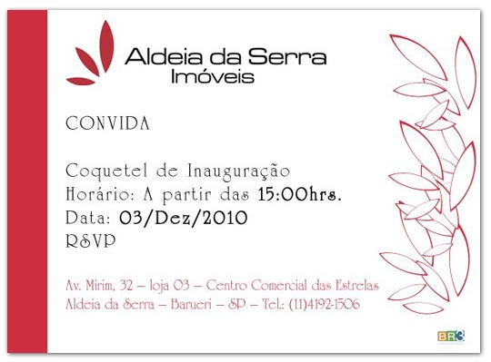 Convites de Inauguração Aldeia da Serra Br3 Site sites cases image