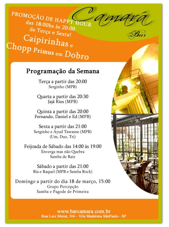 E-mail Marketing Happy Hour Bar Camará Br3 Site sites cases image