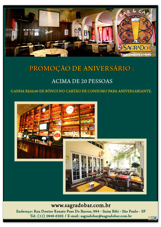 Email Marketing Sagrado Bar