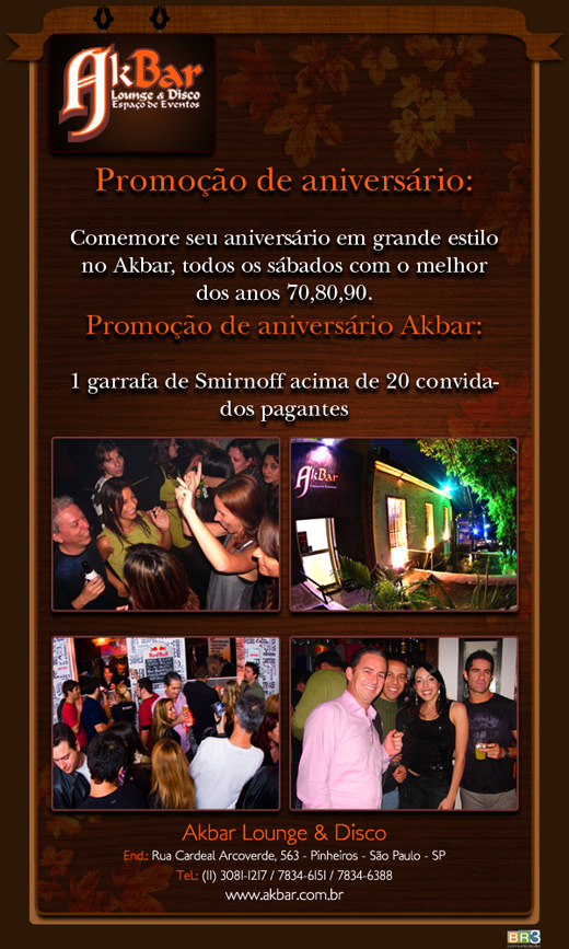 E-mail marketing de aniversário Akbar