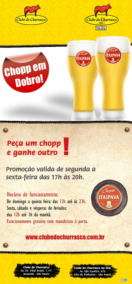 E-mail marketing Clube do Churrasco