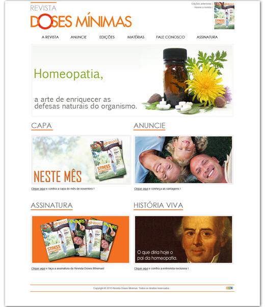 Site Revista Doses Mínimas