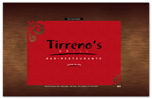 Site Tirrenos Bar e Restaurante Br3 Site sites cases image