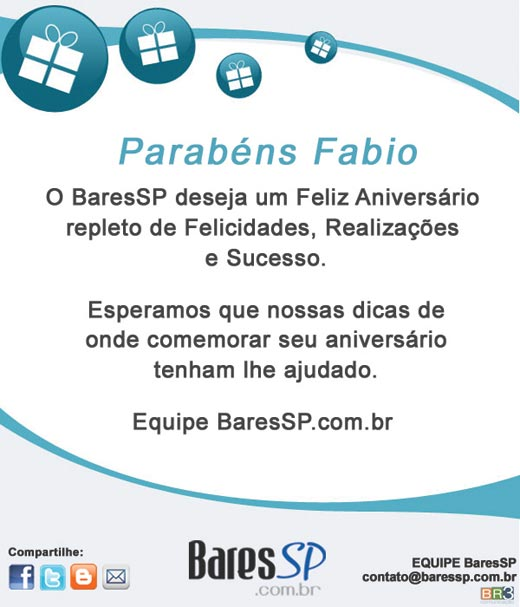 E-mail marketing aniversário