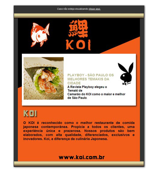E-mail marketing Koi Restaurante Br3 Site sites cases image