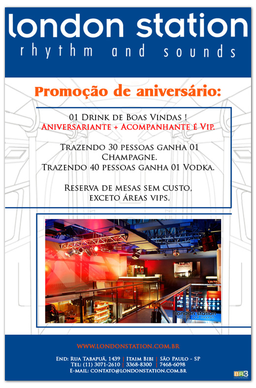 E-mail marketing de aniversário - London Station Br3 Site sites cases image