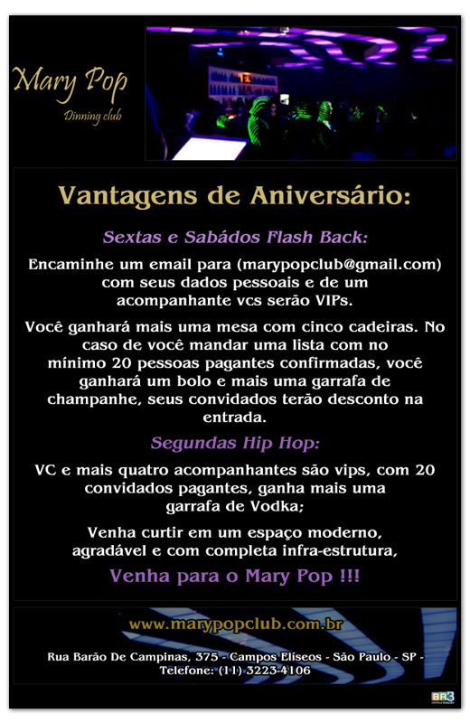 E-mail marketing de aniversário Mary Pop