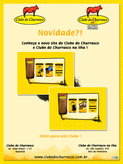 E-mail marketing Novidade Clube do Churrasco