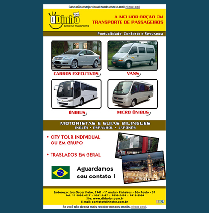 E-mail marketing Dinho Tur Br3 Site sites cases image