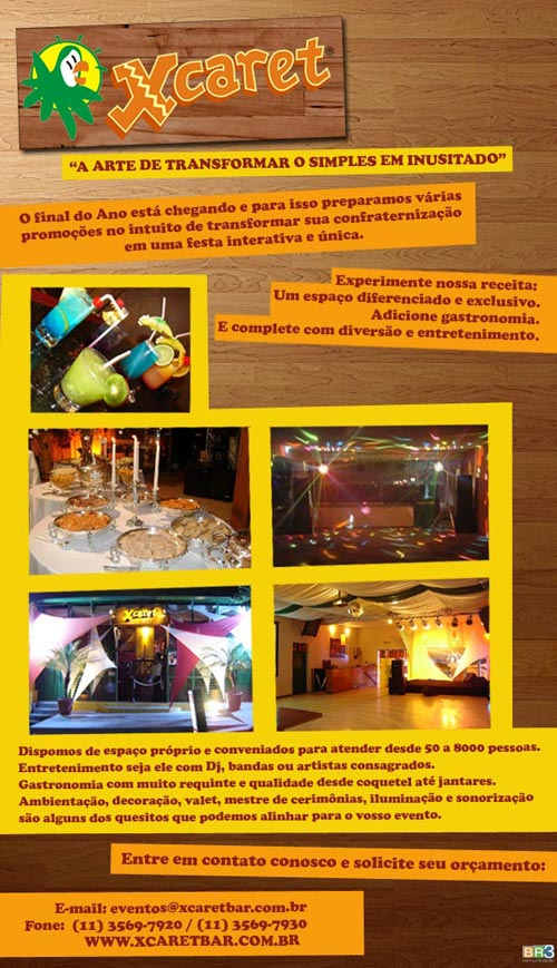 E-mail marketing de eventos Xcaret