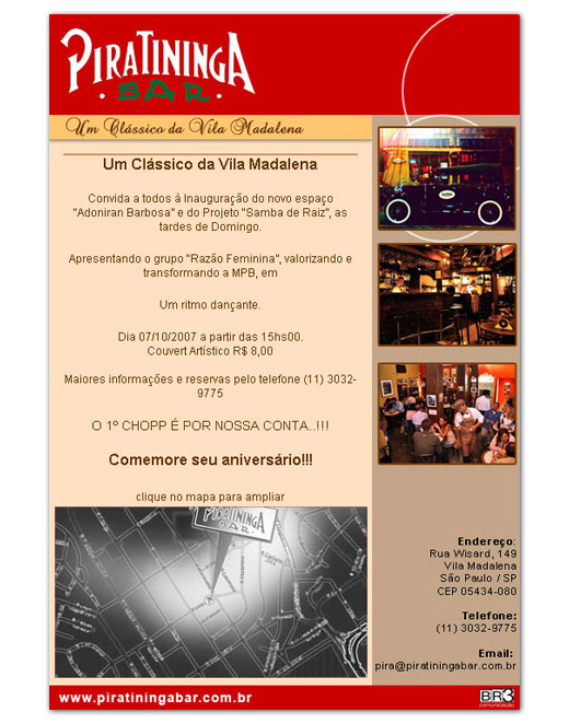 E-mail marketing de aniversário Piratininga Br3 Site sites cases image