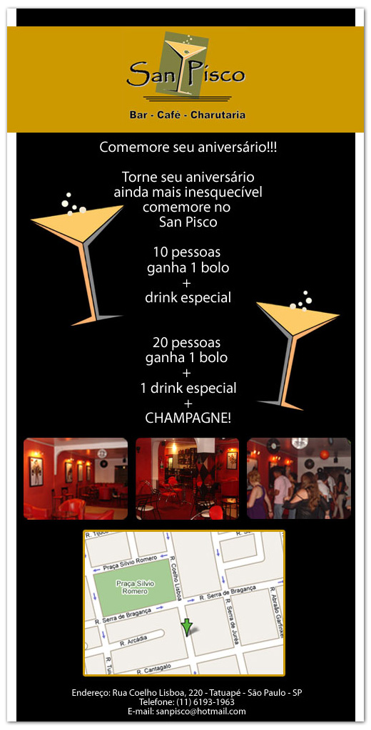 E-mail marketing de aniversário San Pisco Br3 Site sites cases image