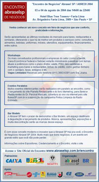 E-mail Marketing Encontro Abredi-Abrasel SP