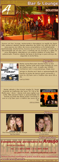 E-mail Marketing do Bar Araujo Br3 Site sites cases image