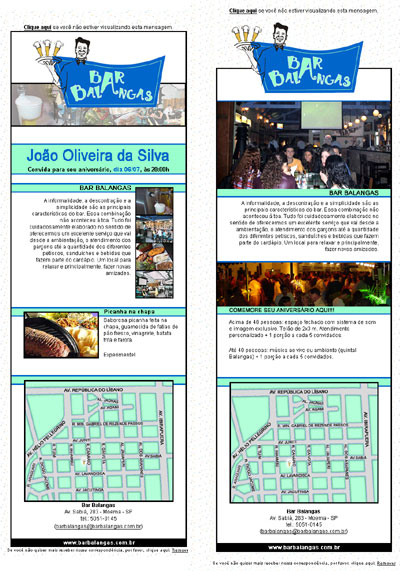 E-mail Marketing do Bar Balangas Br3 Site sites cases image
