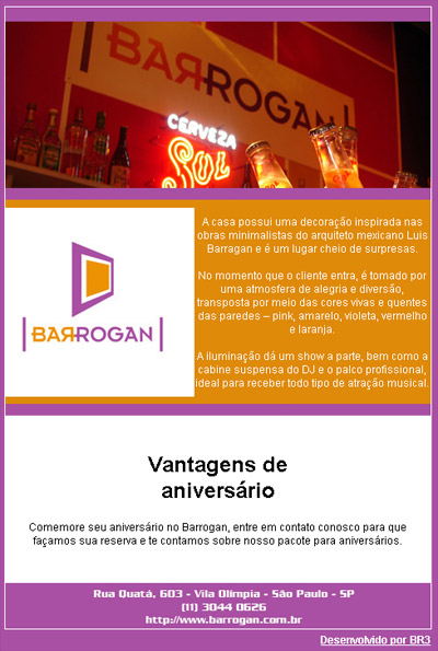 E-mail marketing Barrogan Bar