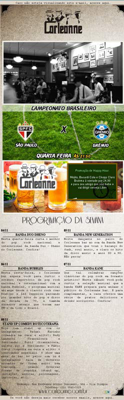 E-mail Marketing do Corleonne Bar