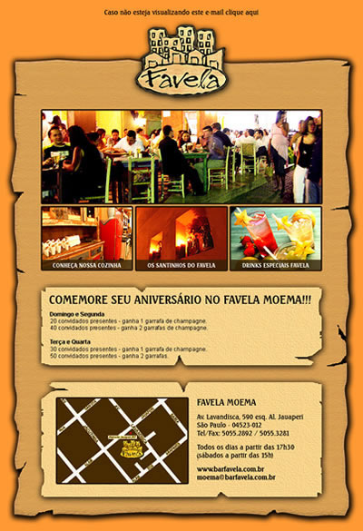 E-mail Marketing Favela Moema
