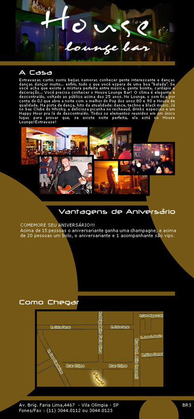 E-mail Marketing House Lounge de Aniversário Br3 Site sites cases image