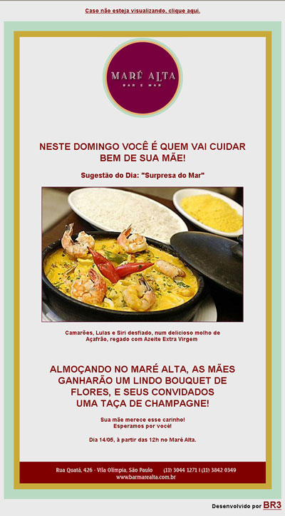 E-mail marketing promocional Maré Alta