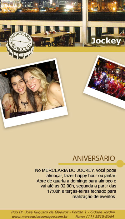 E-mail marketing Mercearia São Roque - Aniversário