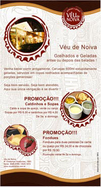E-mail Marketing do Bar Véu de Noiva