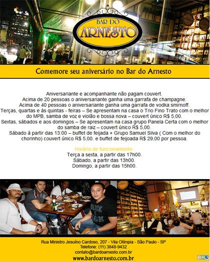 E-mail marketing de aniversário Bar do Arnesto