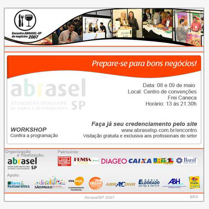 E-mail marketing Encontro de Negócios Abrasel 2007 Br3 Site sites cases image